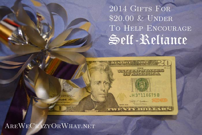 2014 Gifts For $20 & Under To Help Encourage Self-Reliance~SelfReliantSchool.com