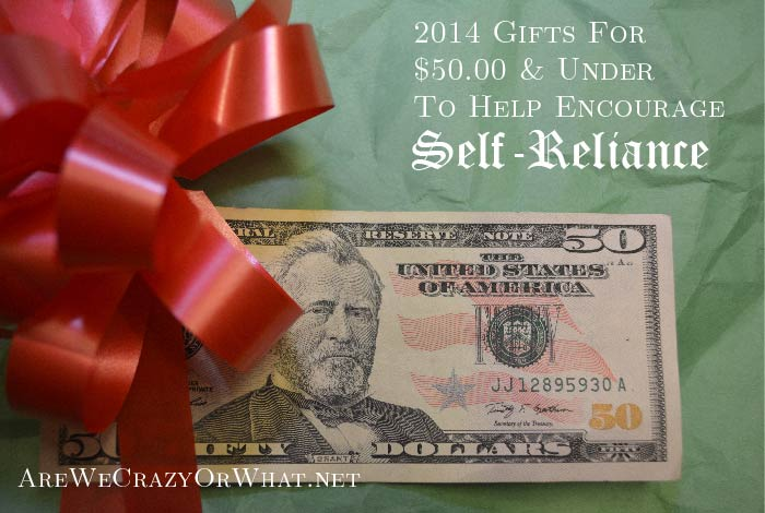 2014 Gifts For $50 & Under To Help Encourage Self-Reliance~SelfReliantSchool.com
