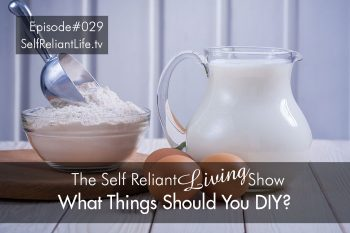 What Things Should You DIY? - Self Reliant Living #029
