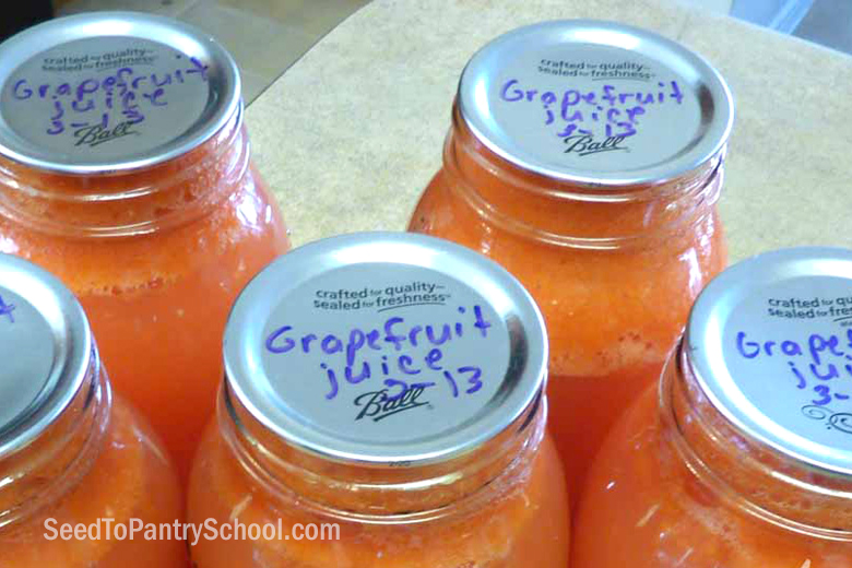 how-to-can-grapefruit-juice