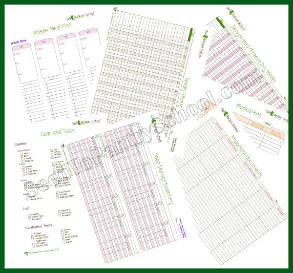 Planner page samples